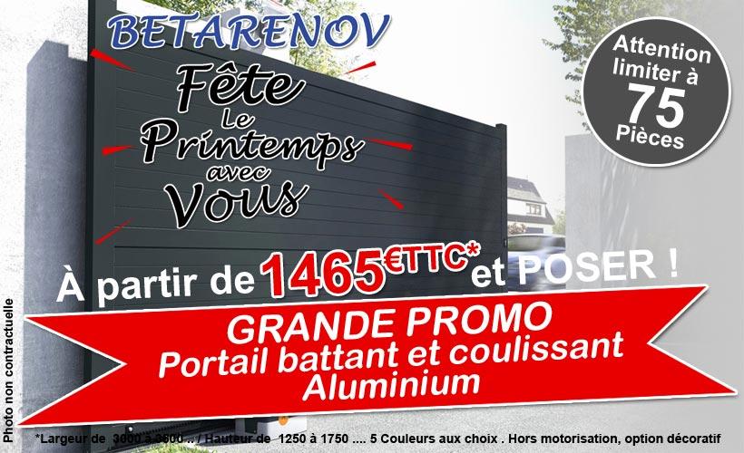 promo sur les portails aluminium betarenov