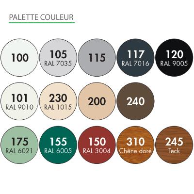 VOLET ROULANT AUTONOME SOLAIRE PHOTOVOLTAIQUE BUBENDORFF couleurs